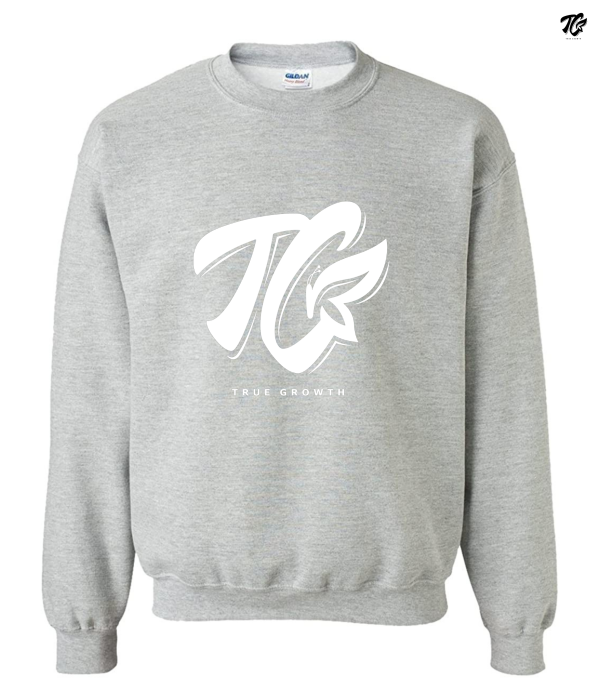 true growth sweaters white logo