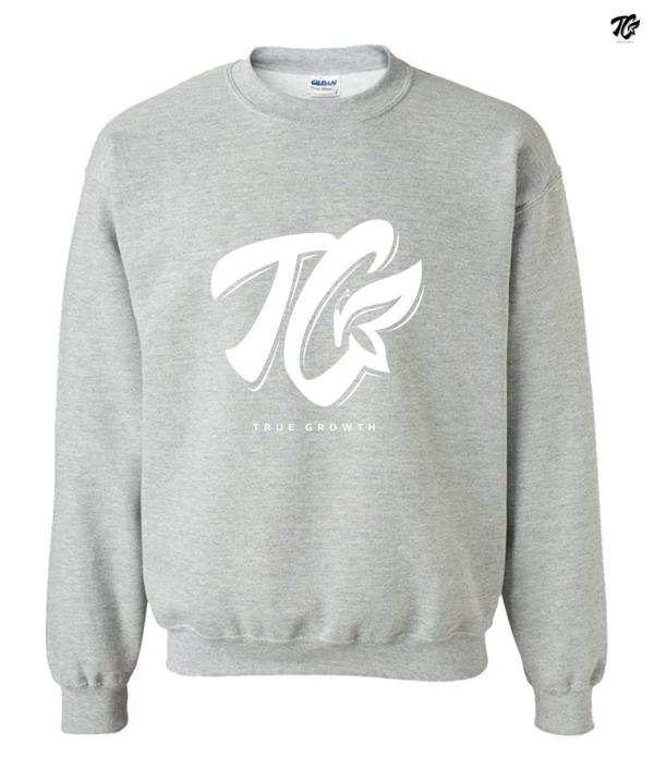 true growth sweaters white logo